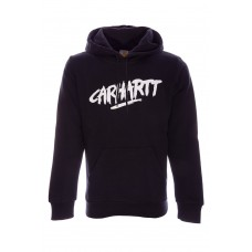 Hooded Painted Script Sweat PRETO
