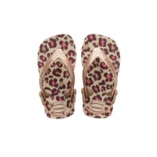 Chinelos Havaianas Baby Chic Shocking BEGE