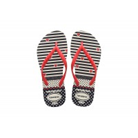 Chinelos Havaianas Kids Slim Fashion White/Red BRANCO