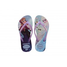 Chinelos Havaianas Kids Slim Frozen White BRANCO