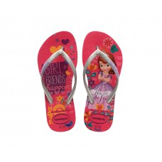 Chinelos Havaianas Kids Slim Princess Orchid Rose ROSA