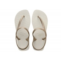 Sandalias Havaianas Flash Urban White / Light Gold BRANCO