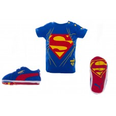 Crib pack Suede Superman AZUL