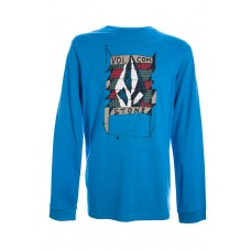 ROUGH STONE LS BASIC TEE AZUL