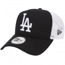 LA Dodgers Clean Black A-Frame Trucker Cap PRETO