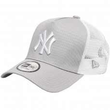 New York Yankees Clean Grey A-Frame Trucker Cap CINZENTO