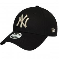 NewYork Yankees Womens Metallic Logo Black PRETO