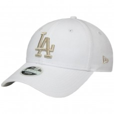 Los Angeles Dodgers Womens Metallic Logo White BRANCO