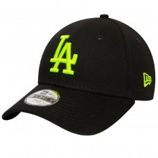 LOS ANGELES DODGERS NEON LOGO KIDS BLACK 9FORTY CAP PRETO