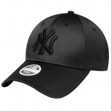 NEW YORK YANKEES WOMENS SATIN BLACK 9FORTY CAP PRETO