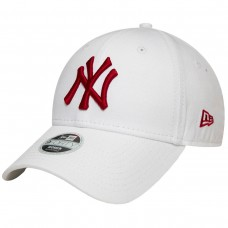 NEW YORK YANKEES WOMENS LEAGUE ESSENTIAL RED LOGO WHITE 9FORTY CAP BRANCO