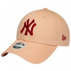 NEW YORK YANKEES WOMENS LEAGUE ESSENTIAL RED LOGO PINK 9FORTY CAP ROSA