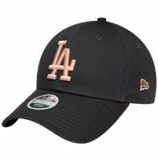 Los Angeles Dodgers Womens League Essential Pink Logo Black 9FORTY Cap CINZENTO