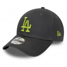 LOS ANGELES DODGERS LOGO LEAGUE ESSENTIAL BLACK 9FORTY CAP CINZENTO