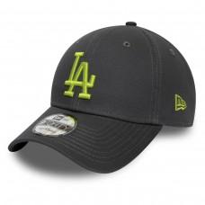 LOS ANGELES DODGERS LOGO LEAGUE ESSENTIAL BLACK 9FORTY CAP CINZENTO