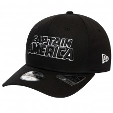 Captain America Wordmark Kids Black 9FIFTY Cap PRETO