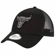 Chicago Bulls Tonal Black A-Frame Trucker Cap PRETO