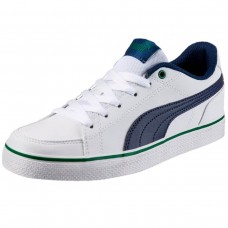 Court Point Vulc v2 Jr Puma White-Blue D BRANCO