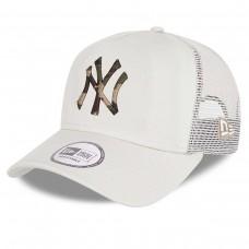 New York Yankees City Camo A-Frame Trucker Cap Stone BEGE