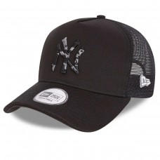 New York Yankees City Camo A-Frame Trucker Cap Black PRETO
