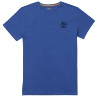 SS TEE WITH STACKED - YALE BLUE AZUL