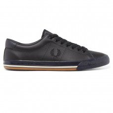 Fred Perry Underspin Leder - navy AZUL