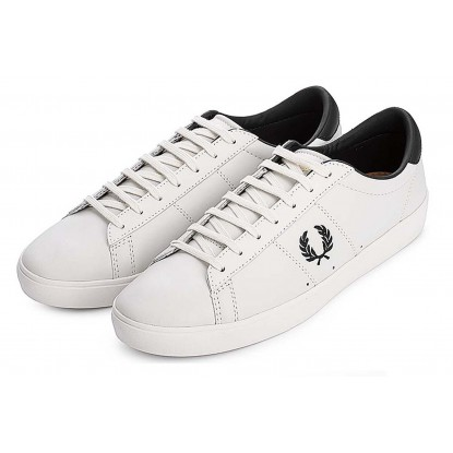 Fred Perry Spencer Leather - porcelain BRANCO