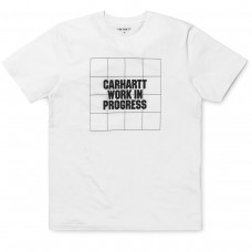 S/S Grid Logo T-Shirt BRANCO