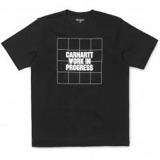 S/S Grid Logo T-Shirt PRETO