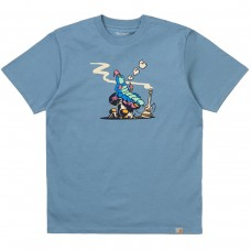 S/S Silkworm T-Shirt AZUL