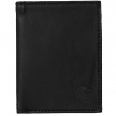 Leather Fold Wallet Preto