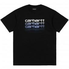 S/S Motion Script T-Shirt PRETO