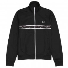 Taped Chest Track Jacket PRETO