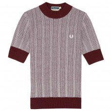 Fred Perry Two-Colour Turtle Neck  - aubergine