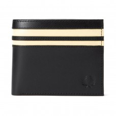 Fred Perry Cut & Sew Billfold wallet- black PRETO