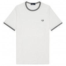 T-Shirt Fred Perry Twin Tipped BRANCO