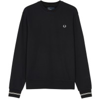 Fred Perry Crew Neck Sweatshirt  - black PRETO