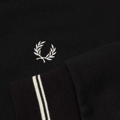 Fred Perry Crew Neck Sweatshirt  - black PRETO