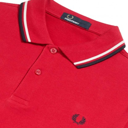 Polo Fred Perry Twin Tipped VERMELHO