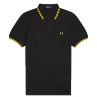 Polo Fred Perry Twin Tipped PRETO