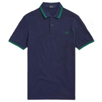 Polo Fred Perry Twin Tipped AZUL