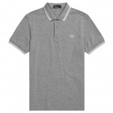 Polo Fred Perry Twin Tipped CINZENTO