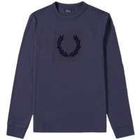 Fred Perry Tonal Laurel Wreath  - dark airforce AZUL