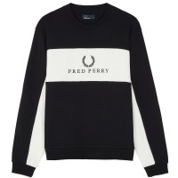 Fred Perry Piped Sweatshirt  - black PRETO