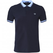 Polo Fred Perry Contrast Rib AZUL