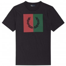 T-Shirt Fred Perry Split Laurel Wreath AZUL