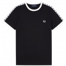Taped RingerT-Shirt PRETO