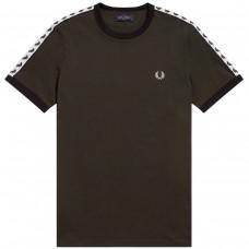 Taped RingerT-Shirt VERDE