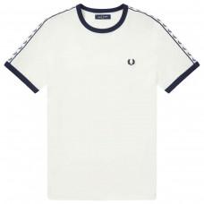 Taped RingerT-Shirt BRANCO