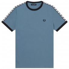 Taped RingerT-Shirt AZUL